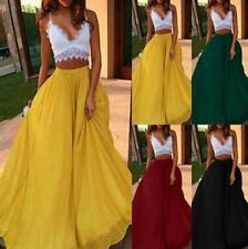 Woman Maxi Skirt Solid Color Chiffon elastic Waist Loose Maxi Skirt S-2XL 4Color