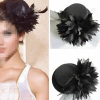 Ladies Steampunk Mini Top Hat Mad Hatter Fancy Dress Costume Wedding Party