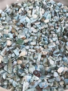 6-12mm Natural Larimar Pectolite Cabochon Gemstone Lot tumbled 1/2lb bulk stones