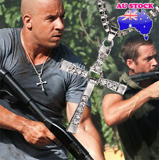 The Fast and The Furious Dominic Toretto's Cross Crystal Pendant Chain Necklace