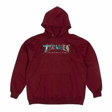 Thrasher Magazine Hieroglyphic Logo Maroon Hooded Sweatshirt