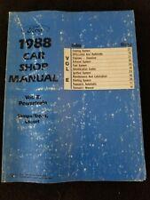1988 Ford Car Shop Manual, Volumes C & E Tempo/Topaz, Escort