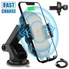 Qi Car Fast Charger Wireless Charging Cell Phone Mount Stand Air Vent Dashboard