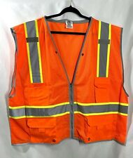 High Visibility Orange Two Tones Safety Vest 5xl Condor Ppe