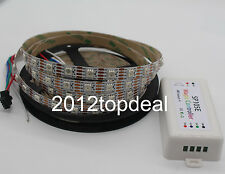 DC5V 60Led/m WS2813 5m Smart led pixel strip Addressable light+SP105E controller