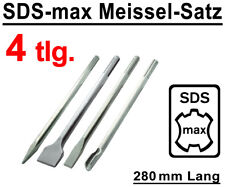SDS-max Meißel Set 4-tlg. 280 mm Flachmeißel Spitzmeißel Breitmeißel Kanalmeißel