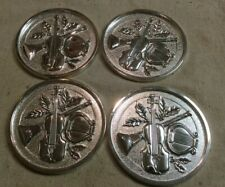 The Bombay Company Silver Classical Suite Coasters Set Of 4  By Godinger
