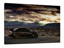 Subaru Impreza WRX Sti - 30x20 Inch Canvas Art Work - Framed Picture Print