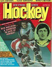 1973 Ben Strong Hockey magazine Rick Macleish Philadelphia Flyers St. Louis Blue