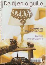 De fil en aiguille N°13 HS point croix Monochrome ABC Perrette Samouiloff