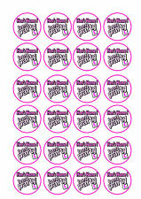 24 x Hen Party personalised Cup Cake Toppers ICING