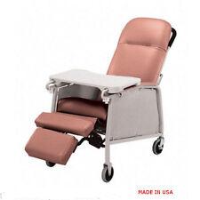 NEW Lumex 574G Three 3 Position Recliner Geri Chair Rosewood