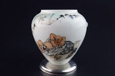 Large Vintage Porcelain Bird Feeder Bowl for Chinese Bamboo Bird Cage
