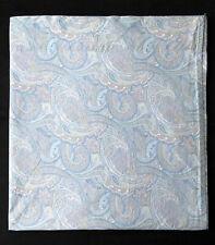 Ralph Lauren Queen Flat Bed Sheet Fine Paisley Pastel Blue Yellow