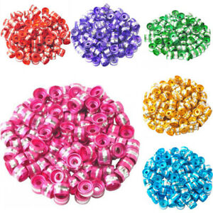 100 Pcs 6x4mm Aluminum Cylinder Spacer Loose Beads DIY Findings Jewelry Making