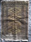 Vintage Small Wool Bokhara Oriental Rug, Browns & Tans