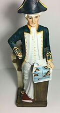 Hand Painted Decanter 1970s Vintage Captain Cook Porcelain