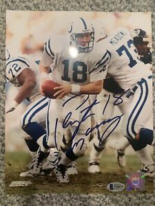 Peyton Manning Indianapolis Colts Autographed 8x10 Photo Beckett COA