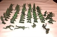 Vintage Louis Marx Style WWII US Army Battleground Soldiers, 54 pcs