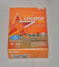 2009 ROXIO CREATOR ULTIMATE SOFTWARE NEW SEALED
