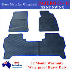 All Weather Floor Mats for Mitsubishi PAJERO NS NT NW NX 2006 - 2019 Blue