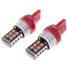 2PCS T20 7443 15smd LED brake light 12V yellow white redBLUS