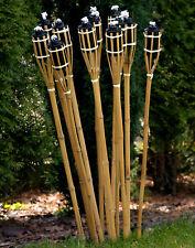 21 Stk Bambusfackeln Gartenfackel Bambus Garten Fackel Deko 90cm (2)