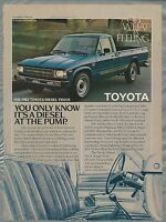 1987 TOYOTA pickup advertisement, Toyota Diesel pickup ad