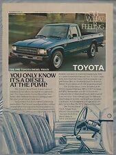 1987 TOYOTA pickup advertisement, Toyota Diesel pickup ad