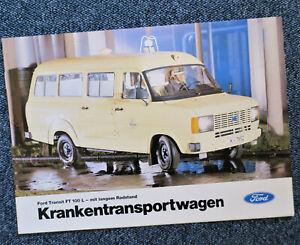 Ford Transit Krankenwagen Faltprospekt Folder