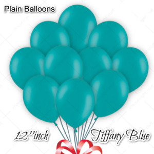 "12"" 20PCS NEW TIFFANY BLUE PLAIN LATEX BALLOONS ALL OCCASION PARTY DECO BALOONS"