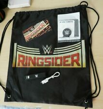 WWE RINGSIDER Smackdown VIP Drawstring SWAG BAG and WWE Collectibles NEW!