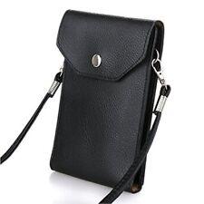 Bosam Girls Mini Shoulder Crossbody PU Leather Cellphone Carrying Case Bag Black