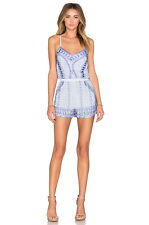 Parker Women's Embellished Beaded Sleeveless Multi-color Romper Size XS NWT