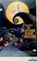 Chris Sarandon signed Jack Skellington 11X17 METALLIC photo BAS COA WA04911