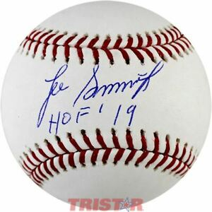 Lee Smith Signed Autographed Official Baseball Inscribed HOF 19 TRISTAR