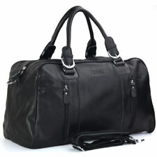 Men Genuine Leather Travel Overnight Luggage Duffle Gym Shoulder Bag Suitcase