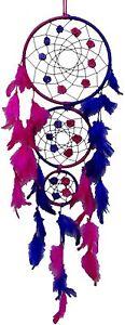 SuSvapnnah Purple Pink Faux Feather Dreamcatcher Boho Dream Catcher-nNo