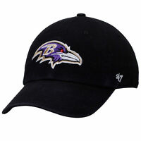 Baltimore Ravens 47 Brand Clean Up Hat Adjustable Cap Black