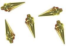 20 x Spike 24k Gold Plastic Wheel Rivets Nuts Rim Replacement Alloys Studs