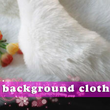 White SHAGGY FAUX FUR FABRIC costumes cosplay crafts photographic backdrops BTY