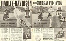 "1960 Vintage Harley-Davidson Daytona 16"" x 20"" Matted Motorcycle Ad Art"