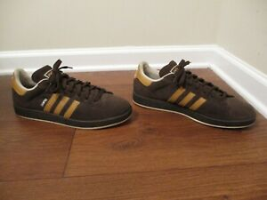 Classic 2007 Used Worn Size 13 Adidas Campus II Shoes Brown Wheat Chalk