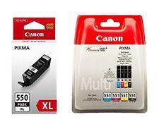 Genuine Canon PGI550XL Black & CLI551 BK/C/M/Y Ink Cartridges For Pixma MG6650