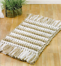COZY Tempting Textures Rug/Decor/Crochet Pattern INSTRUCTIONS ONLY