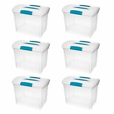 Sterilite Large Nesting ShowOffs Clear File Box w/ Latches (6 Pack) | 18768606