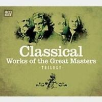 CLASSICAL-WORKS OF THE GREAT MASTERS 3 CD NEW! BEETHOVEN/VIVALDI/BACH/MOZART/+