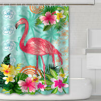 69x70 Inch  3D Printed Waterproof Fabric Bathroom Shower Curtain Set With Hooks