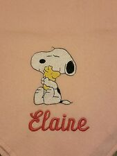 Personalized Embroidery Blanket Snoopy 36x58 inches