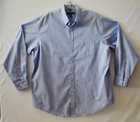Kenneth Cole Reaction  Men's Shirt  Size XXL  Blue & White Striped Long Sleeve